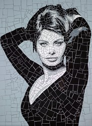 Sophia Loren by David Arnott - Original Mosaic sized 24x32 inches. Available from Whitewall Galleries