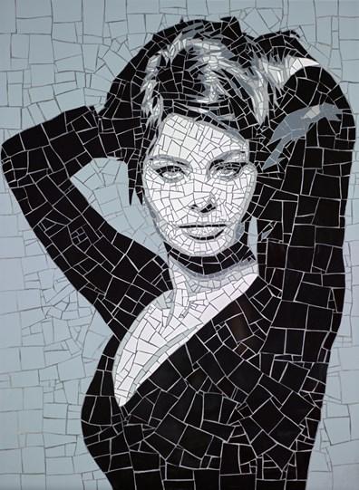 Sophia Loren by David Arnott - Original Mosaic